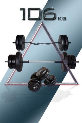 Fitset 106 Kg Z Barlı Halter Seti Ve Dambıl Seti Ağırlık Fitness Seti