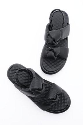 Marjin Kadın Siyah Dolgu Topuk Sandalet
