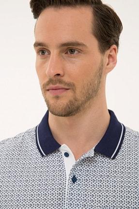 Pierre Cardin Beyaz Regular Fit Polo Yaka T-Shirt