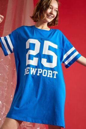 DeFacto Coool Numara Baskılı Oversize Fit Tişört Elbise