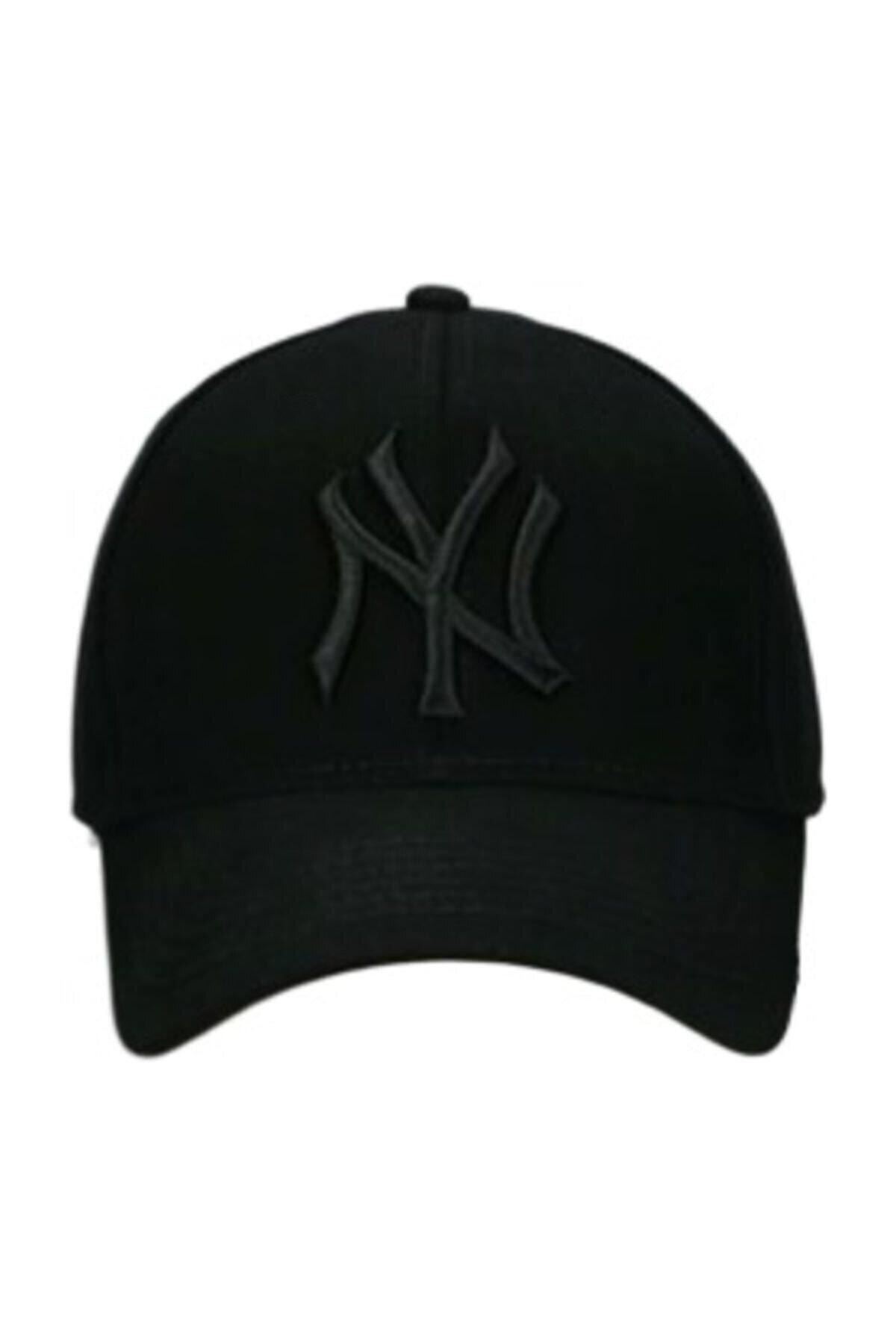 NuxFah Ny New York Şapka Unisex Siyah Şapka 1