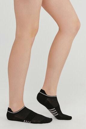 Penti Kadın Siyah Act Sport Patik Çorap 3lü