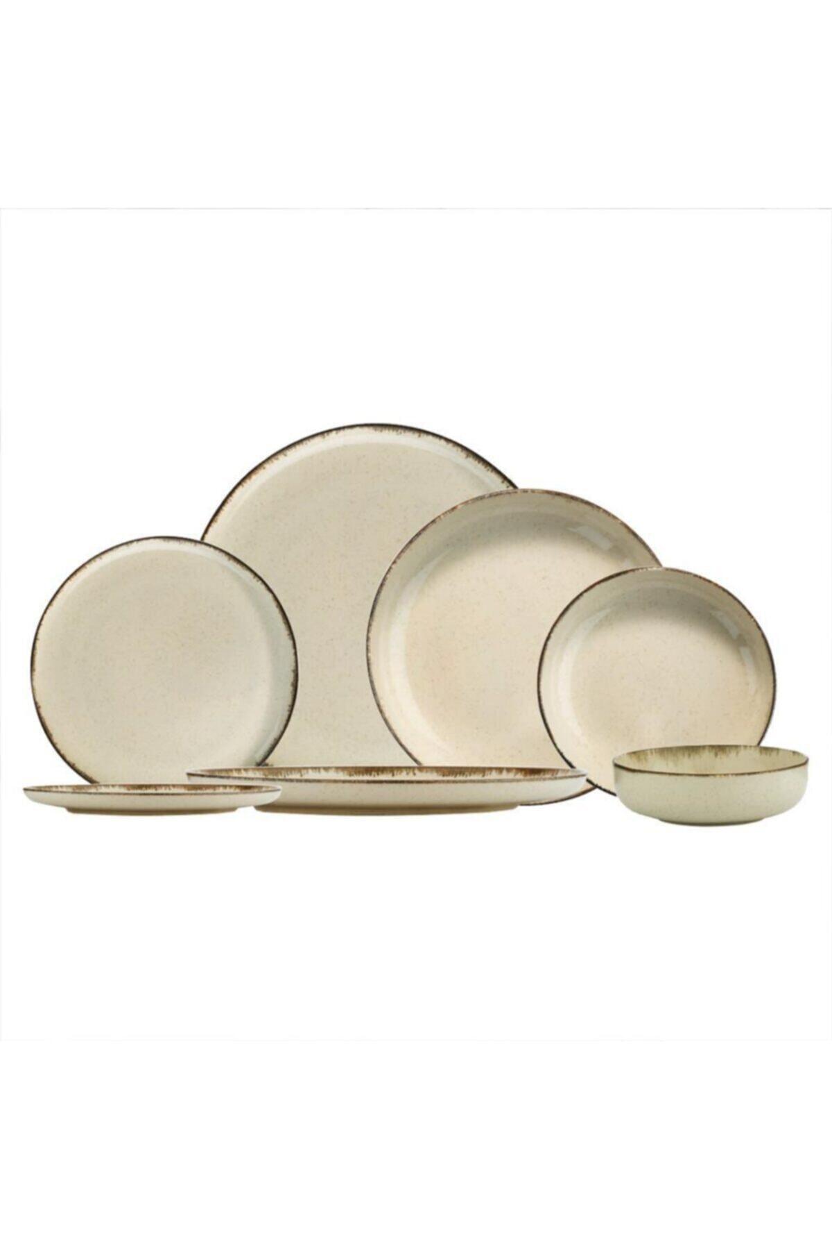 PEARL Porselen Mood Tarçın 12 Kişilik 48 Parça Yuvarlak Yemek Takımı 1