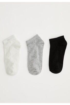 DeFacto Kadın Renkli Patik Çorap 3'lü