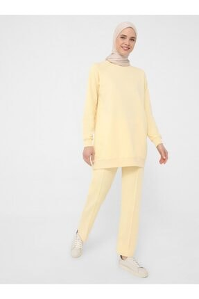 Refka Kadın Sarı Basic Ikili Eşofman Takımı