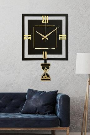 Sokaktaki Hediyem Lavinya Altın Premium Sallanır Sarkaçlı Duvar Saati