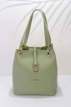 Bambi Yeşil Kadın Postacı Çanta C06622100009