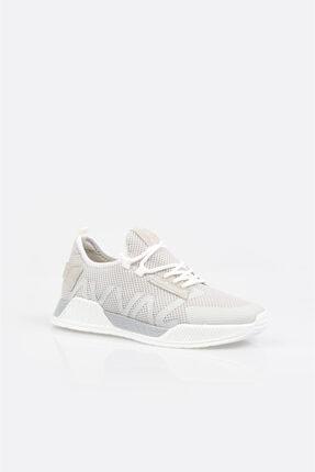 Avva Erkek Açık Gri Yazı Detaylı Spor Ayakkabı A11y8014