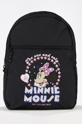 DeFacto Kız Çocuk Siyah Minnie Mouse Lisanslı Sırt Çantası