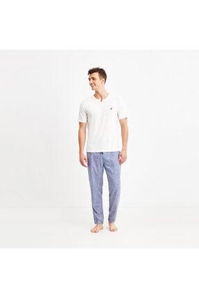 Nautica Nautıca Erkek Beyaz Pijama Takım