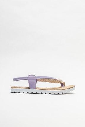 Elle Shoes Kadın Lila Parmakarası Sandalet
