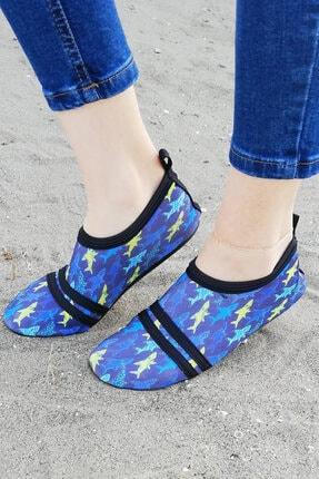 Savana Kdın Mavi Desenli Tekstil Ayakkabı