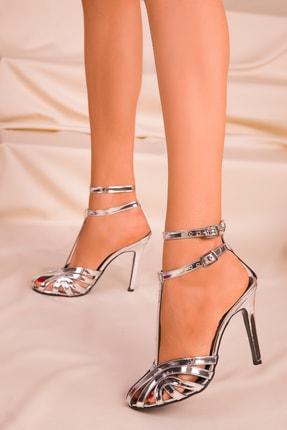 SOHO Platin Rugan Kadın Klasik Topuklu Ayakkabı 16182