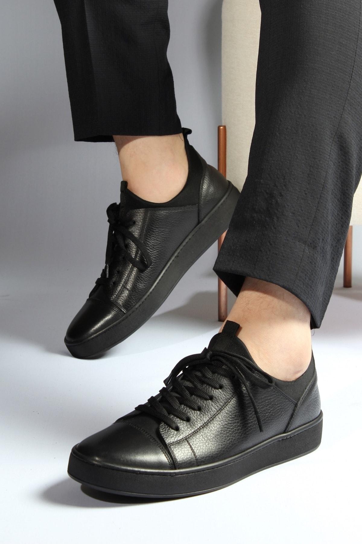 Alba Siyah Hakiki Deri Erkek Ayakkabı 2