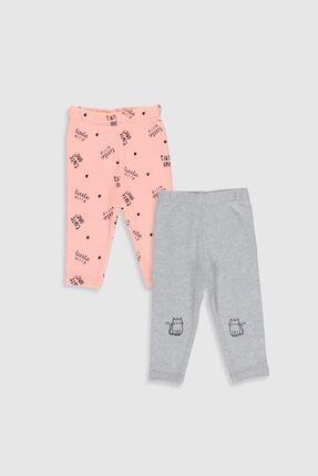 LC Waikiki Kız Bebek Kırıkbeyazmelanj Cx8 Pijama Altı