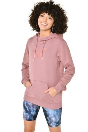 bilcee Kadın Pembe Kapüşonlu Sweatshirt Iw-9041