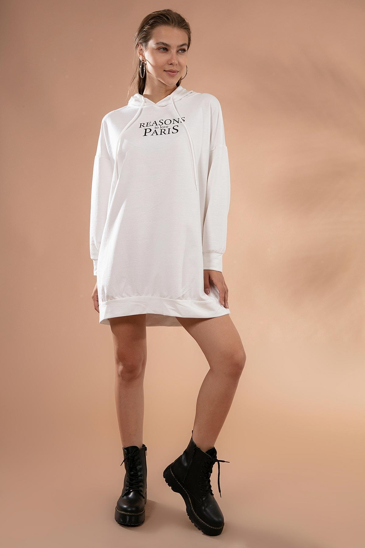 Pattaya Kadın Oversize Sweatshirt Elbise Y20w110-51355 1