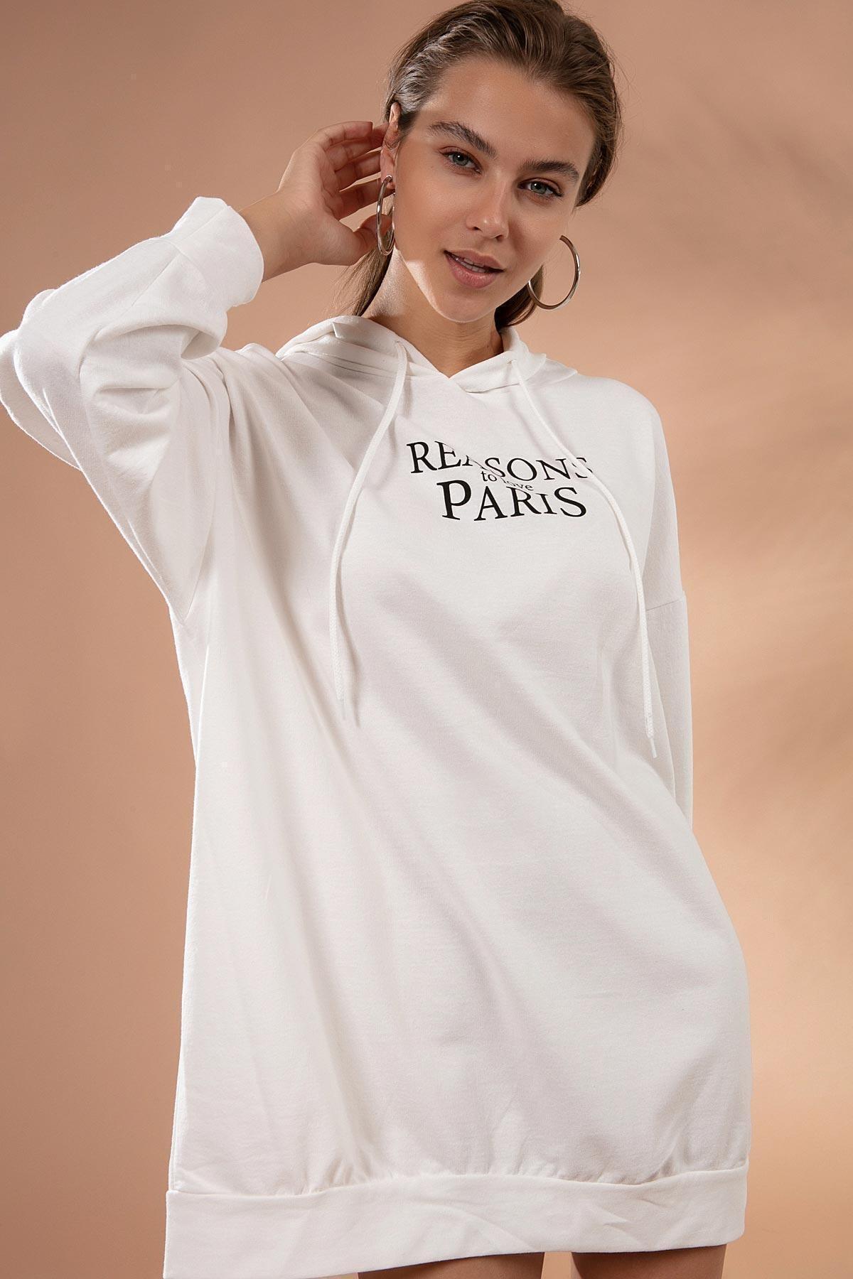 Pattaya Kadın Oversize Sweatshirt Elbise Y20w110-51355 2