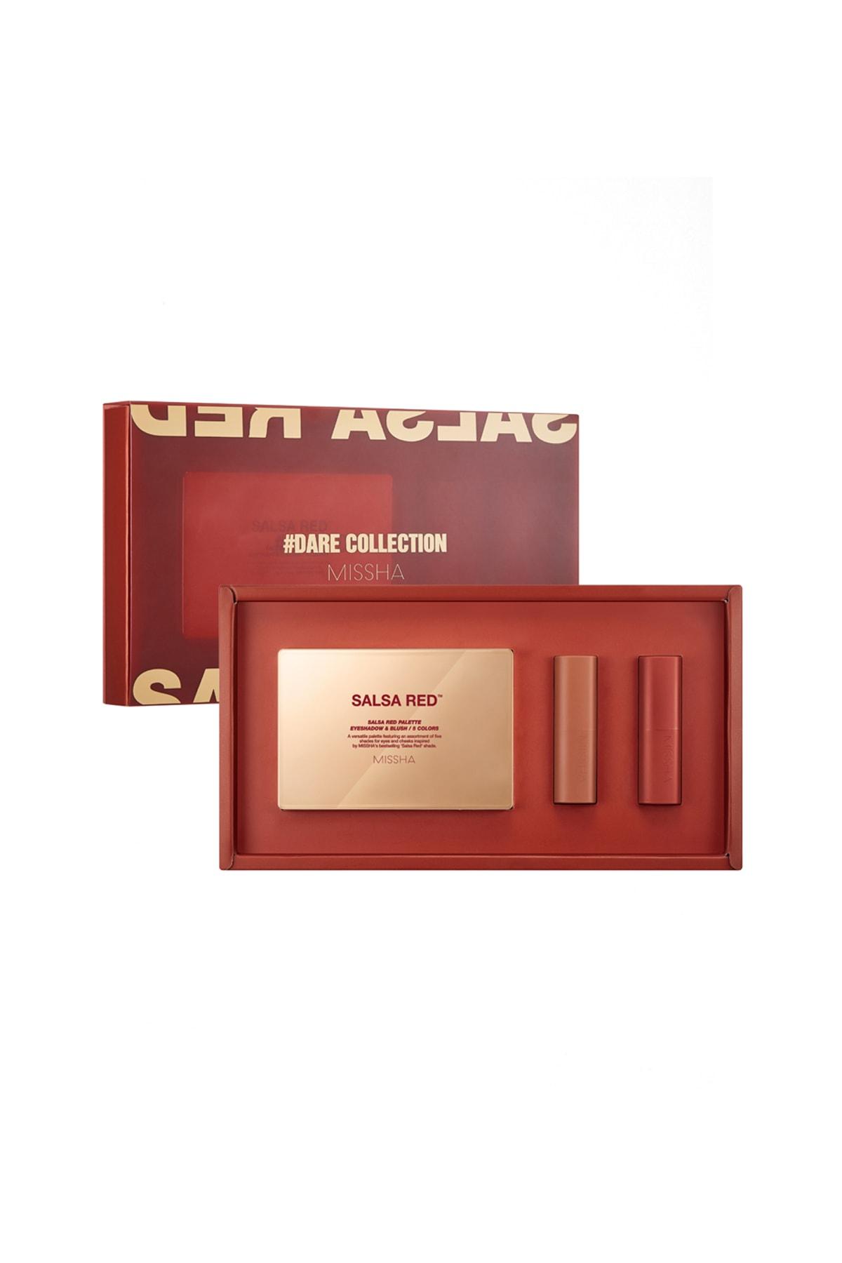 Missha Far & Allık & Ruj Özel Set Dare Collection (Salsa Red)