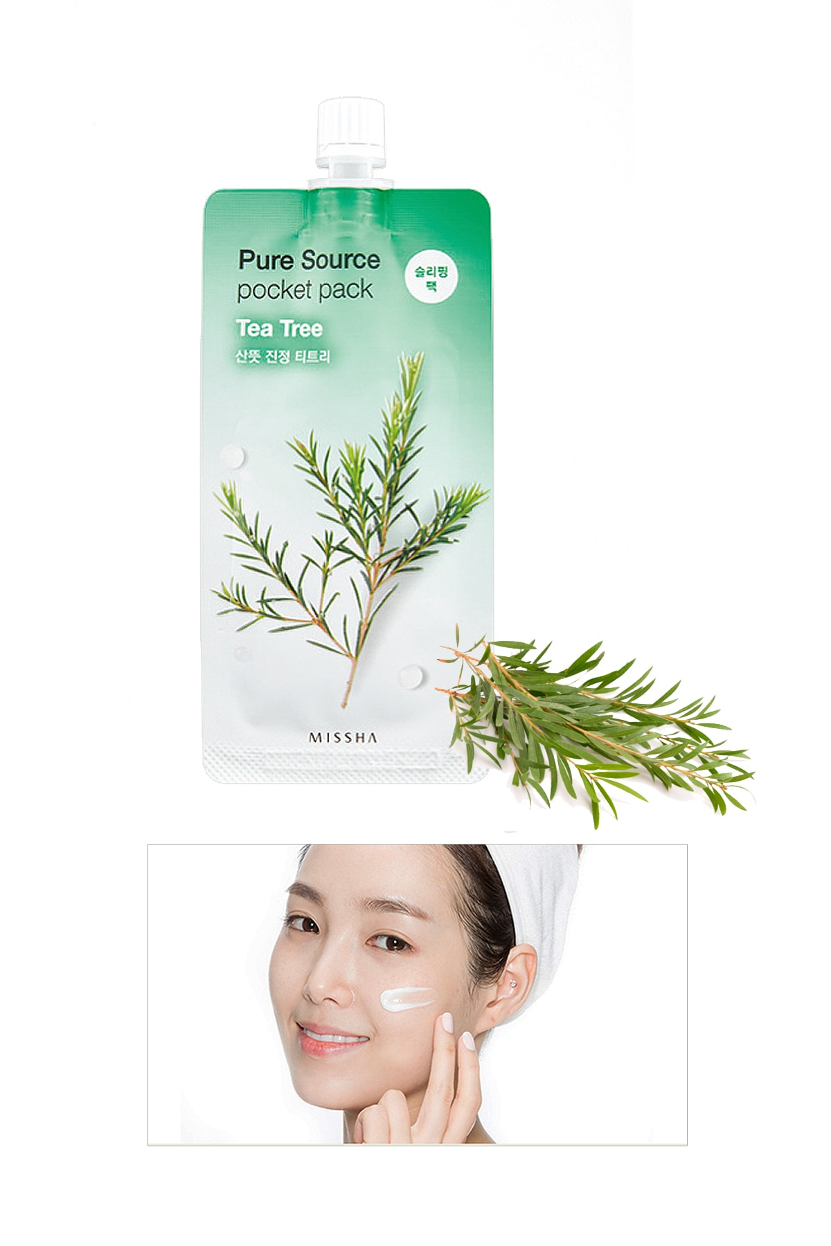 Missha Sivilceli Ciltler İçin Çay Ağacı Yağı Uyku Maskesi 10ml Pure Source Pocket Pack Tea Tree