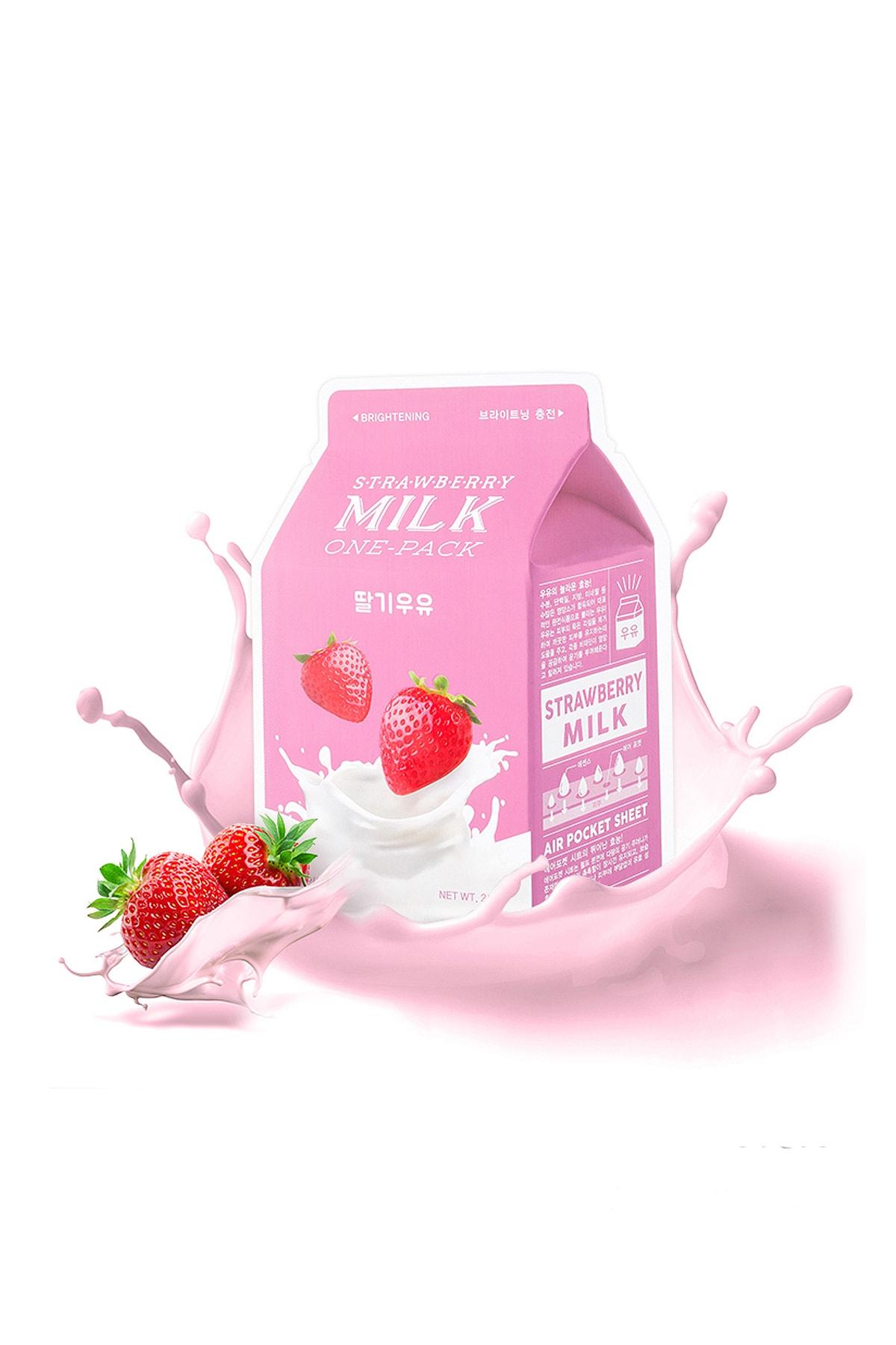 Missha Aydınlatıcı Yaprak Make(Çilek-Süt) APIEU Strawberry Milk One-Pack