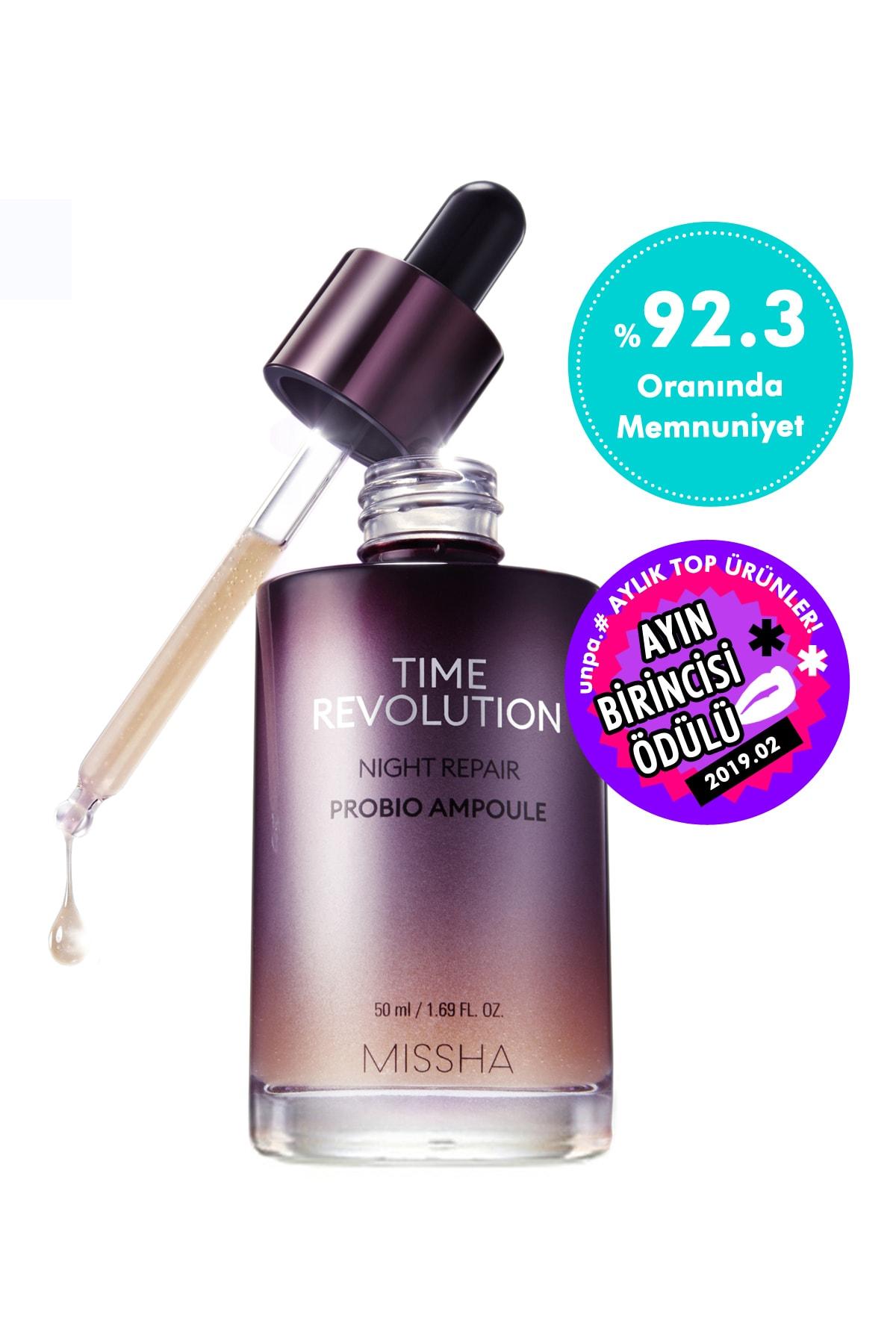 Missha Yaşlanma Karşıtı Probiyotik İçerikli Ampul 50ml Time Revolution Probio Ampoule