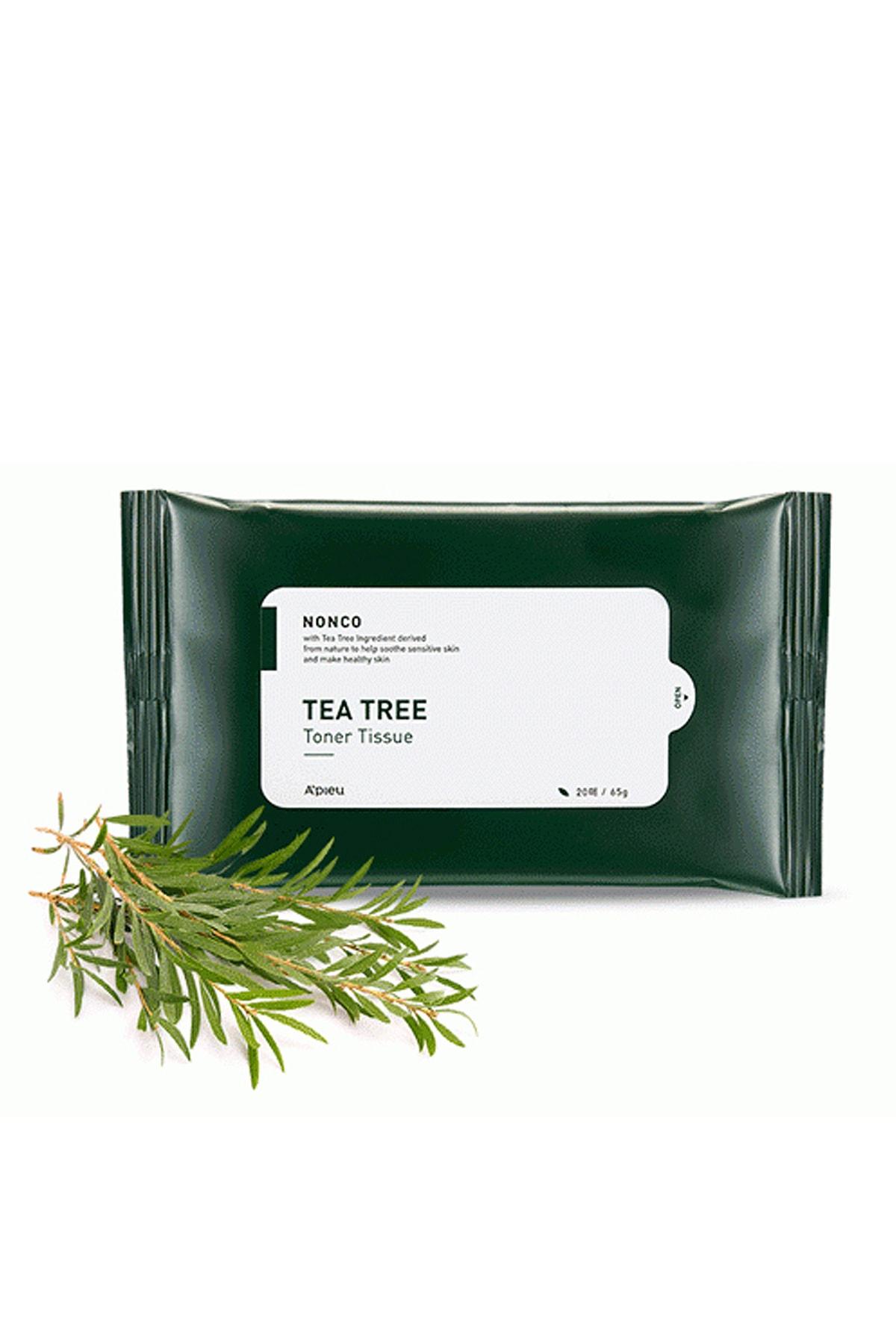 Missha Sivilceli Ciltler İçin Çay Ağacı Yağı İçeren Tonik Mendil (20ad) APIEU Nonco Tea Tree Toner Tissue