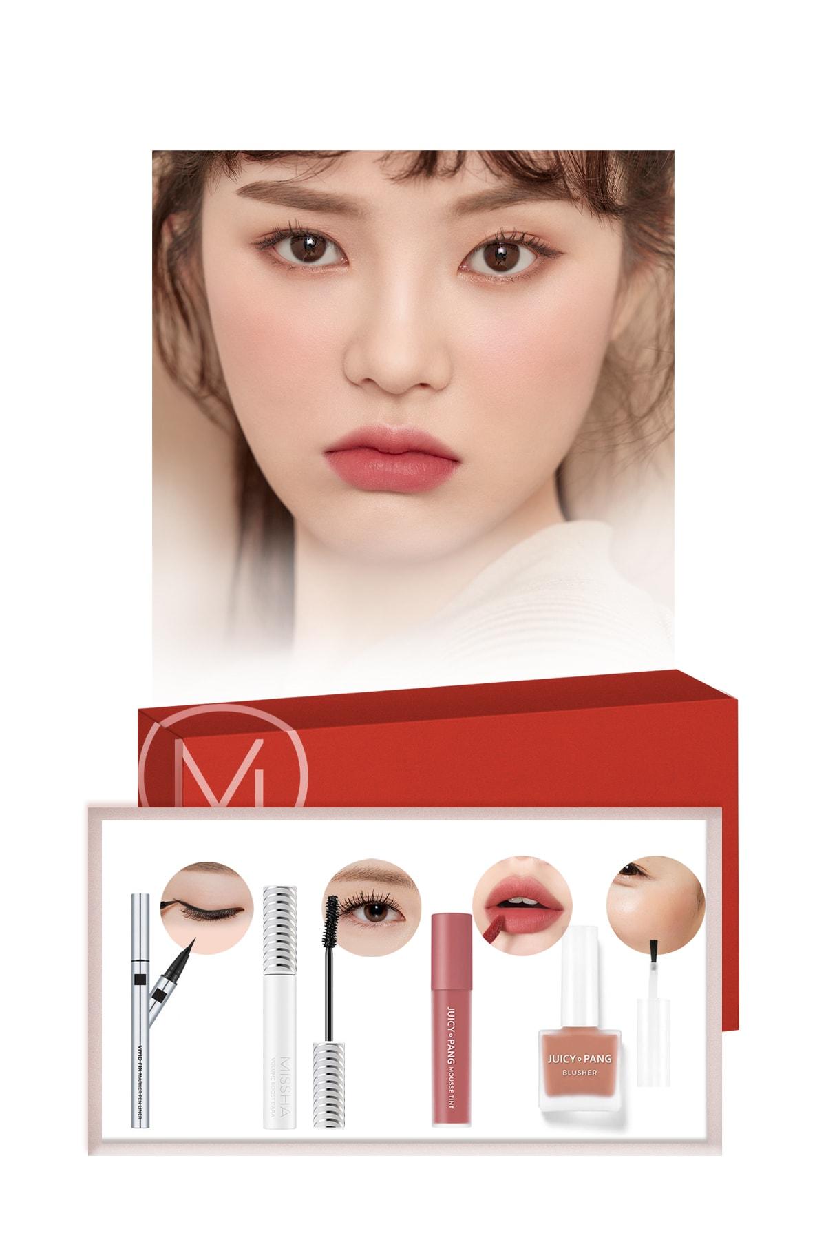 Missha Nude Makyaj Seti  Best Seller  Maskara-Ruj-Allık-Eyeliner - Nude Dreams