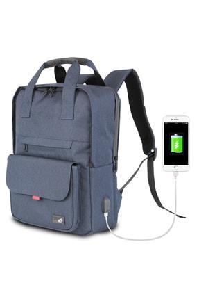 My Valice Unisex Lacivert Smart Bag Usb Şarj Girişli Akıllı Sırt Çantası 1205