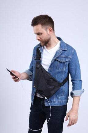 My Valice Unisex Siyah Smart Bag Usb'li Çapraz Göğüs Çantası Slim 1507