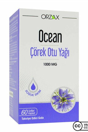 Ocean Çörek Otu Yağı 60 Kapsül