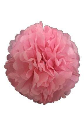 Balonpark 1 Adet Açık Pembe Ponpon Gramafon Çiçek Kağıt Doğum Günü Parti Süsü