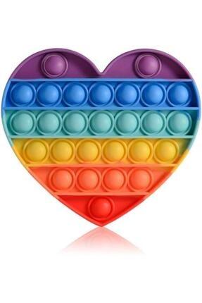 Başel Toys Pop It Push Bubble Fidget Özel Pop Duyusal Oyuncak Zihinsel Stres ( Gökkuşağı / Kalp )
