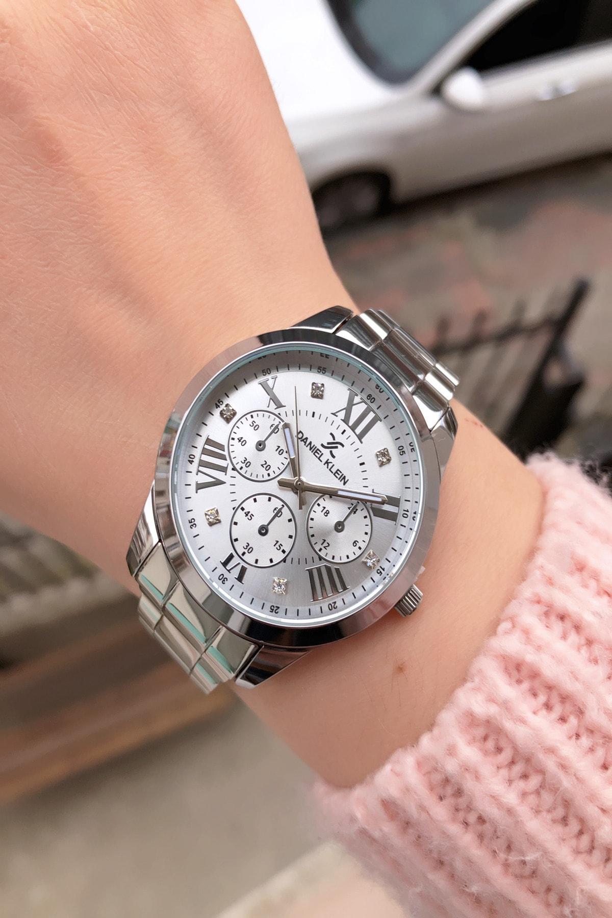 Daniel Klein Kadın Gümüş Renk Kol Saati 1