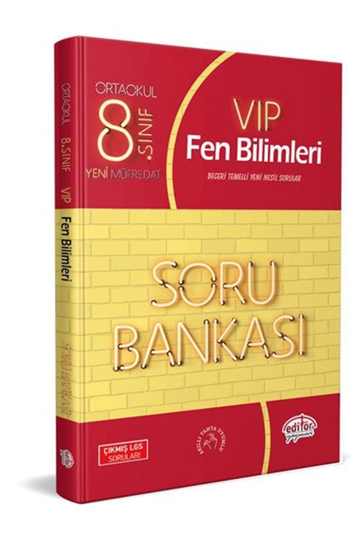 Editör Yayınları Editör 8. Sınıf Vip Fen Bilimleri Soru Bankası 1