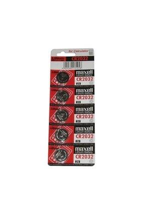 Maxell Maxcell Cr 2032 3v Lityum Para Pili 5'li Saat Pili Düğme Pil