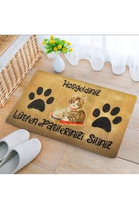 Uygur Home Kedili Patiler Silinsin Temalı Kapı Önü Ve Iç Mekan Paspası