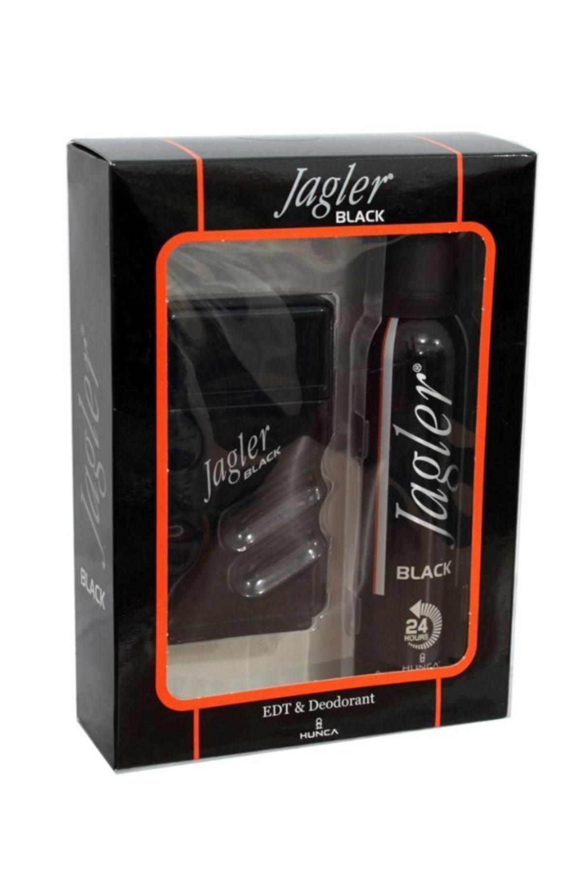 Jagler Black Edt 90 ml +150 ml Deodorant Erkek Parfüm Seti 8690973028532 1