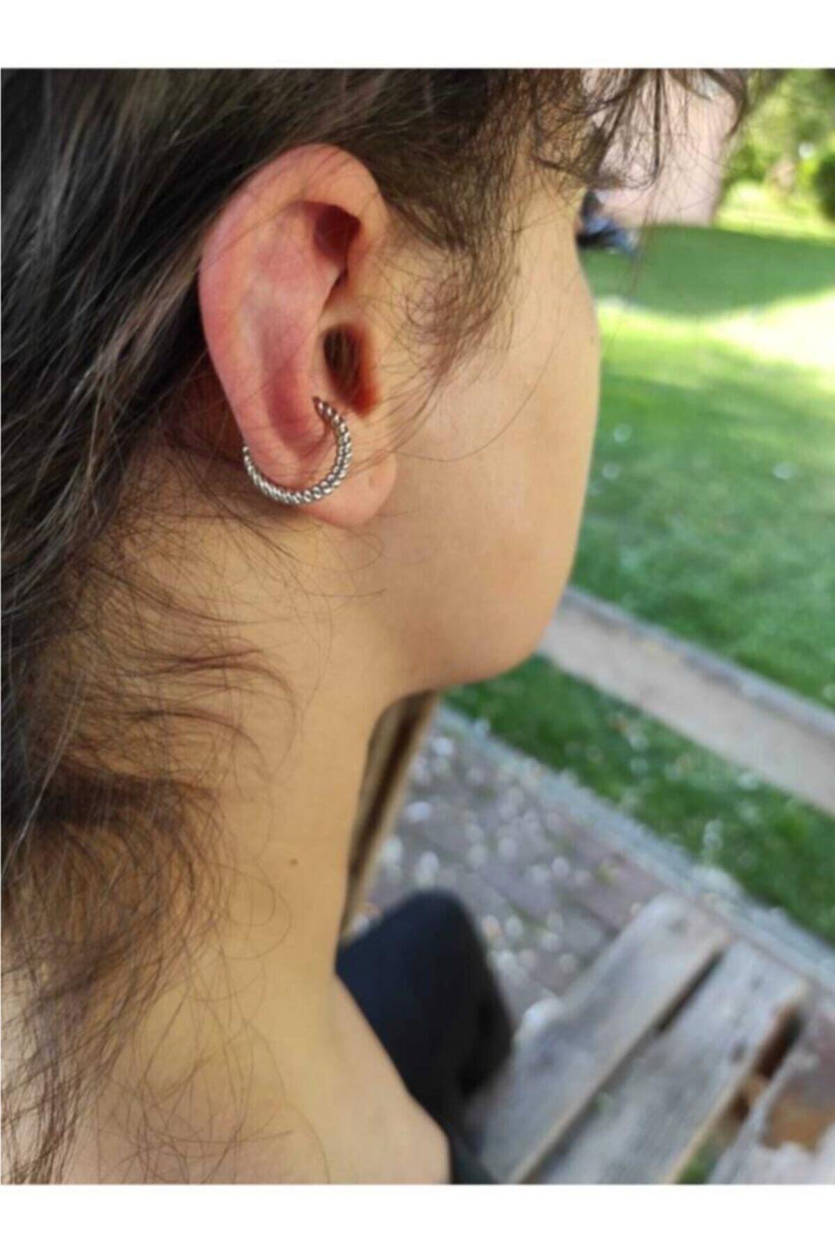 Tanyeli Accessories Kadın Gümüş Sıkıştırma Kıkırdak Küpesi 2