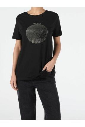 Colin's Kadın Siyah Kısa Kol T-Shirt