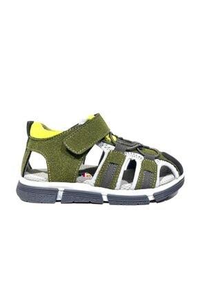 Toddler 6655 Ortopedik Hakiki Deri Erkek Çocuk Haki Sandalet