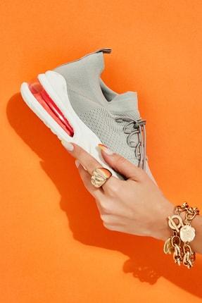 Bambi Gri Kadın Sneaker L0816170082