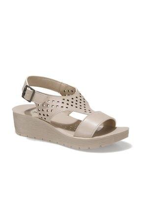 Polaris 317726.Z 1FX Bej Kadın Dolgu Topuklu Sandalet 101025557