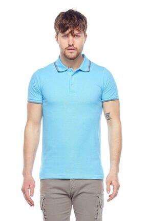 TENA MODA Erkek Aqua Mavi Polo Yaka Tişört