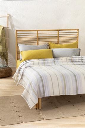 English Home Contemporary İpliği Boyalı Çift Kişilik Pike 200x220 Cm Leylak-yeşil