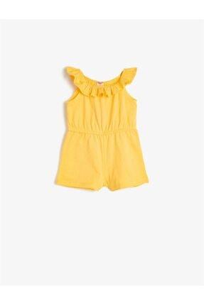 Koton Kids Sarı Kız Bebek Tulum