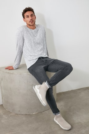 TRENDYOL MAN Gri Erkek Slim Fit Jeans TMNAW20JE0401