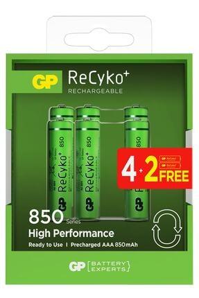 GP Batteries Recyko+ 850 Aaa Ince Kalem Ni-mh Şarjlı Pil, 1.2 Volt, 6'lı Kart