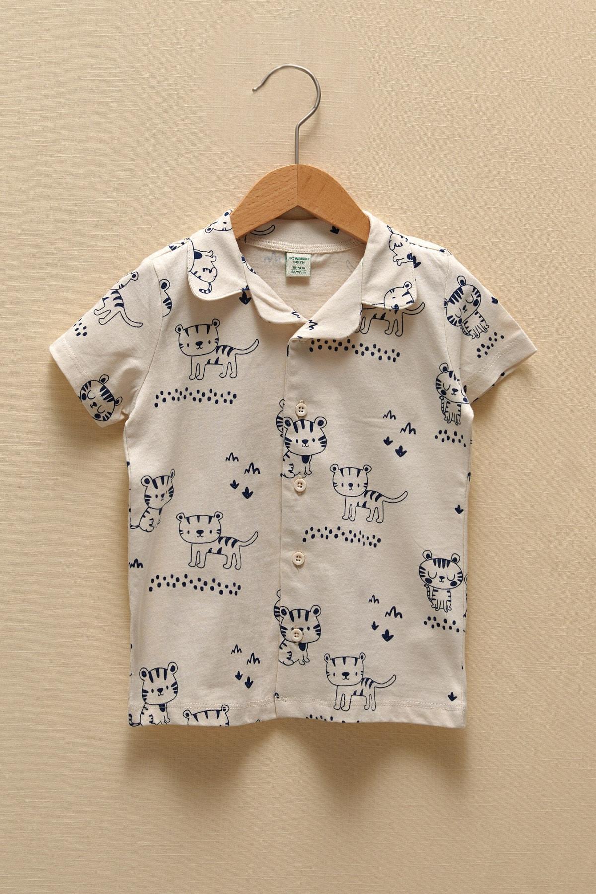 LC Waikiki Erkek Bebek Ekru Baskılı Lra Pijama Takımı 2