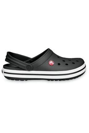 Crocs Crocband Siyah Kenarı Beyaz Çizgili Terlik